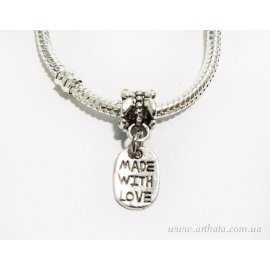 Подвеска Made with love