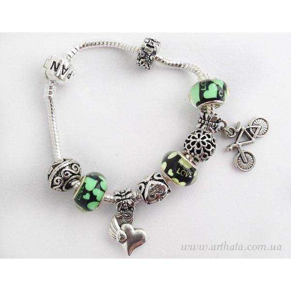 Браслет Зеленая романтика