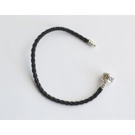 Основа браслет плетеный черный с лого