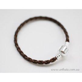 Основа браслет плетеный темно-коричневый без лого