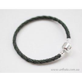 Основа браслет плетеный серый без лого