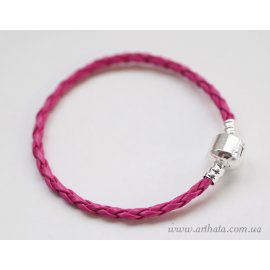 Основа браслет плетеный малиновый