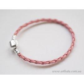 Основа браслет плетеный розовый без лого