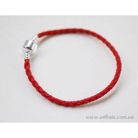 Основа браслет плетеный красный без лого