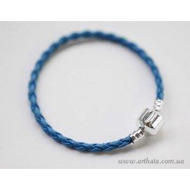 Основа браслет плетеный светло-синий без лого