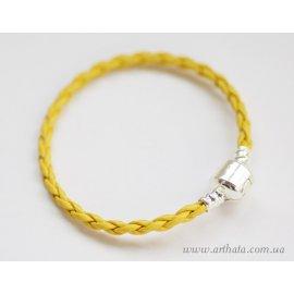 Основа браслет плетеный желтый без лого