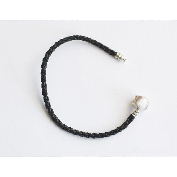 Основа браслет плетеный черный без лого