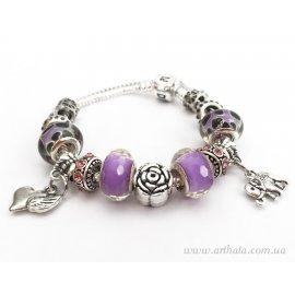 Браслет Фиолетовый цветочный