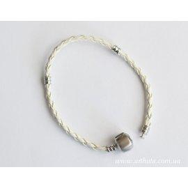 Основа браслет плетеный светло-серый  без лого
