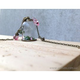 Кулон мини-бутылочка Цветочная мечта