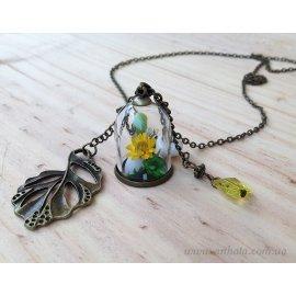 Кулон мини-бутылочка Цветочная радость