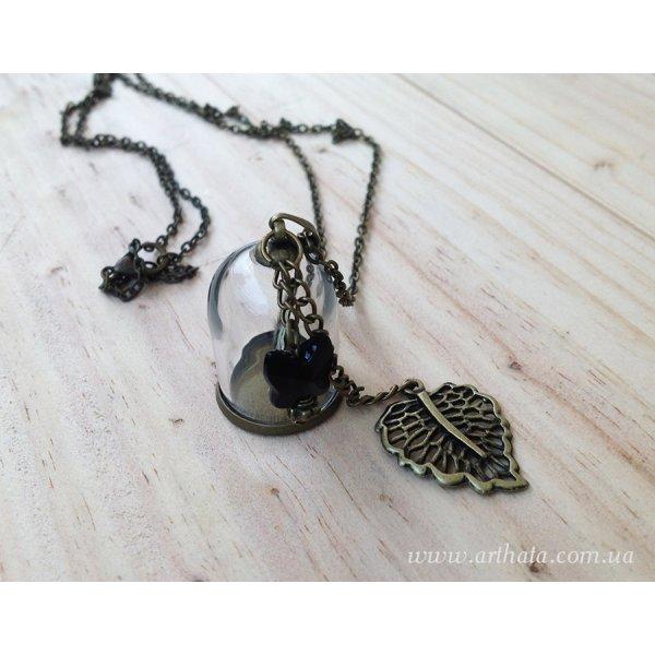 Кулон мини-бутылочка Секрет бабочек