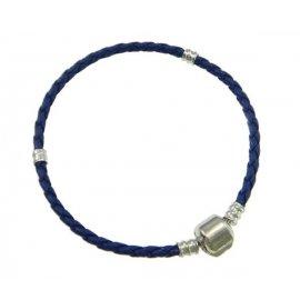 Основа браслет плетеный синий 19 см без лого
