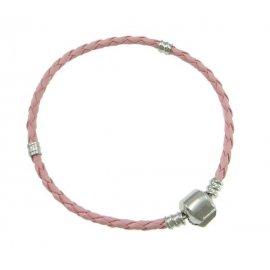 Основа браслет плетеный розовый 19 см без лого