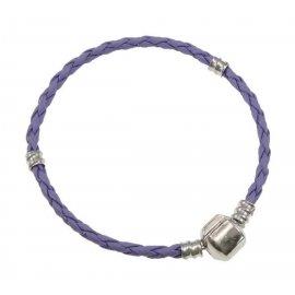 Основа браслет плетеный фиолетовый 18 см без лого