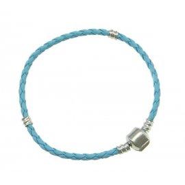 Основа браслет плетеный голубой 18 см без лого