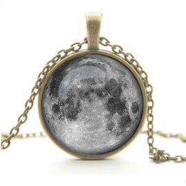 Кулон с кабошоном Лунное сияние (бронза)